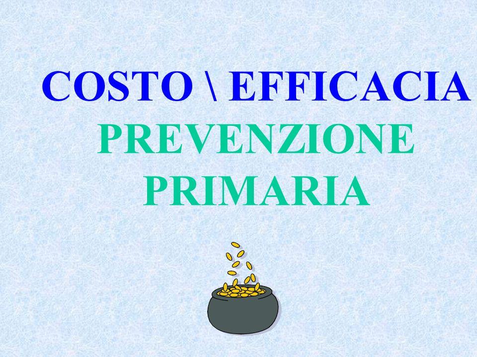COSTO \ EFFICACIA PREVENZIONE PRIMARIA