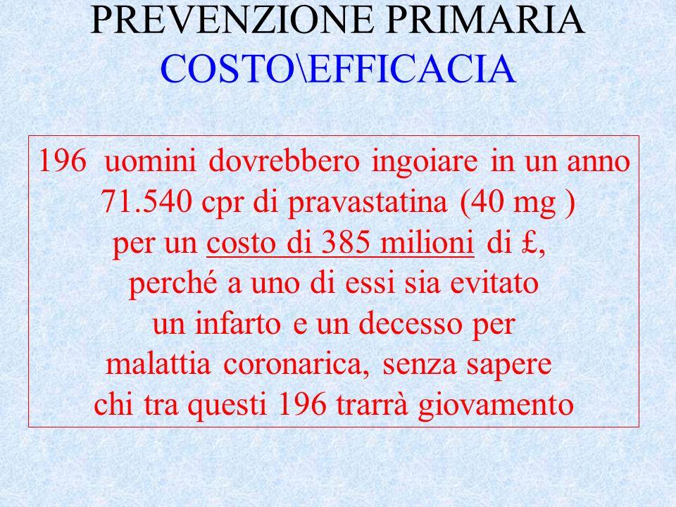 PREVENZIONE PRIMARIA COSTO\EFFICACIA