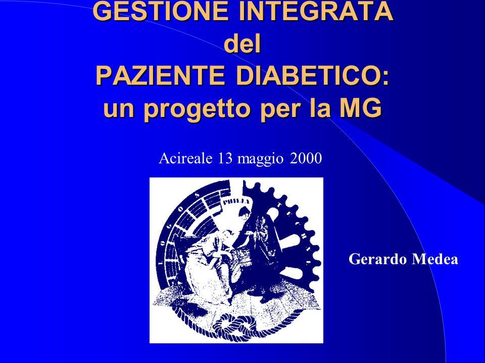 GESTIONE INTEGRATA del PAZIENTE DIABETICO: un progetto per la MG