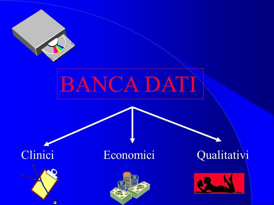 BANCA DATI Clinici Economici Qualitativi