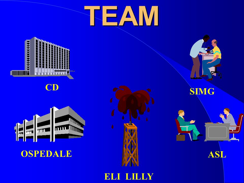 TEAM CD SIMG OSPEDALE ASL ELI LILLY GERRY MEDEA: