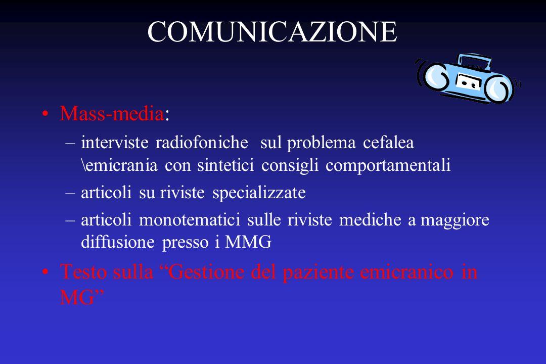 COMUNICAZIONE Mass-media: