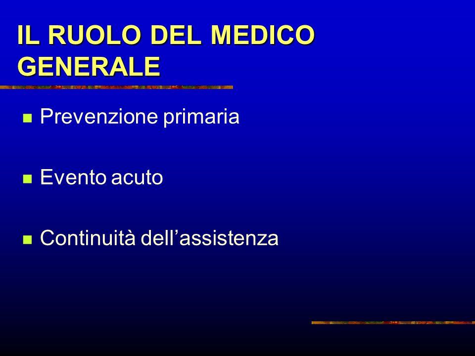 IL RUOLO DEL MEDICO GENERALE