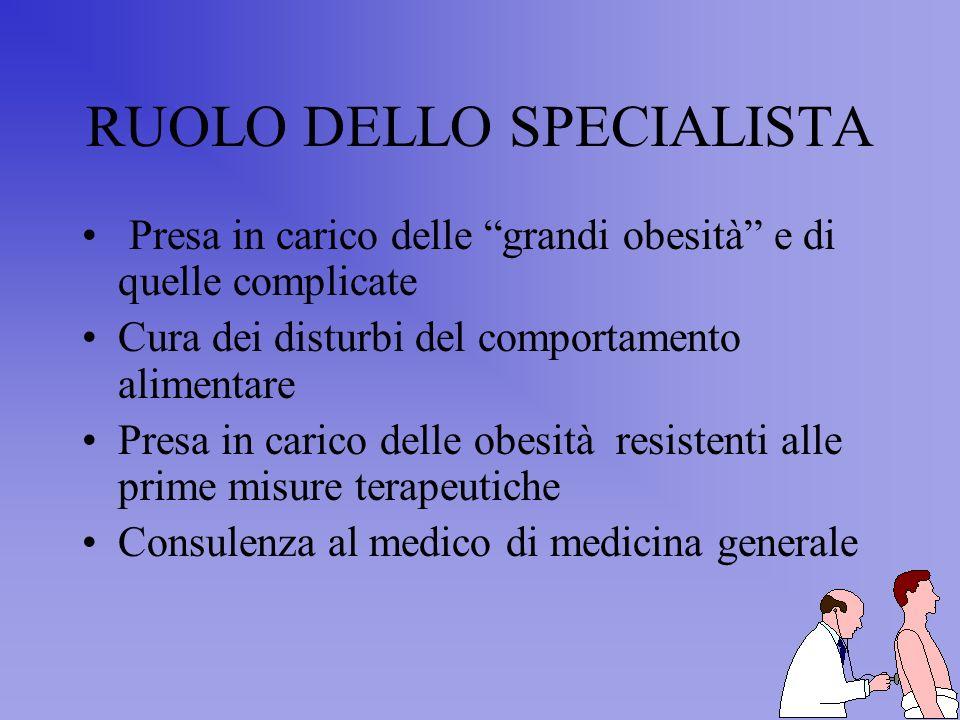 RUOLO DELLO SPECIALISTA