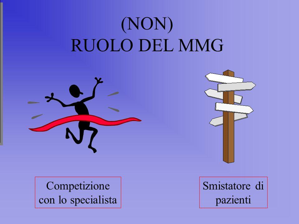 (NON) RUOLO DEL MMG Competizione con lo specialista Smistatore di