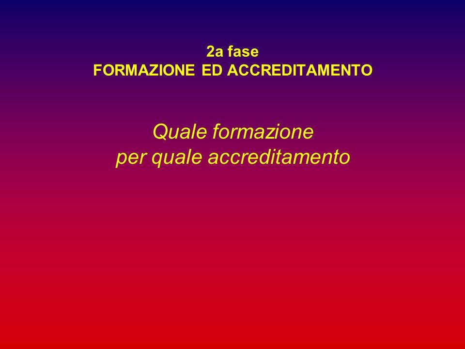 2a fase FORMAZIONE ED ACCREDITAMENTO