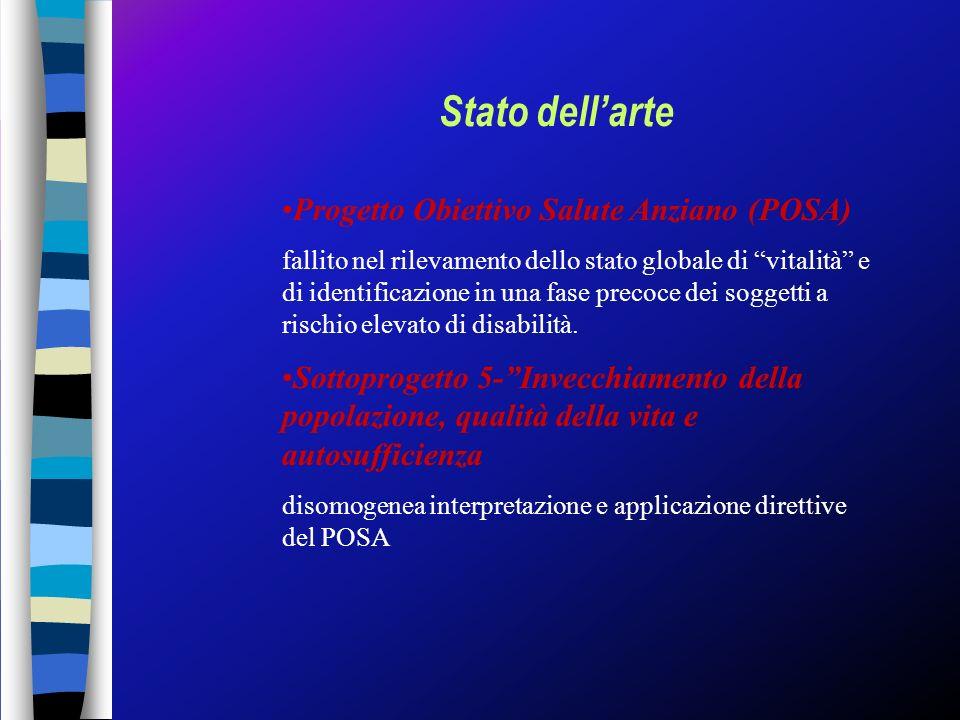 Stato dell'arte Progetto Obiettivo Salute Anziano (POSA)