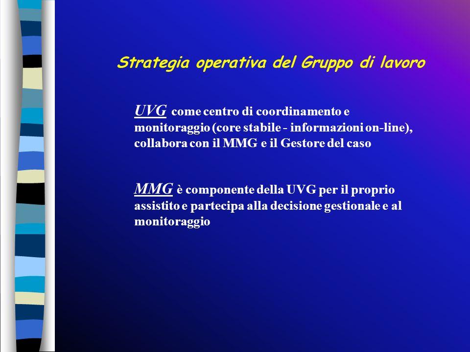 Strategia operativa del Gruppo di lavoro