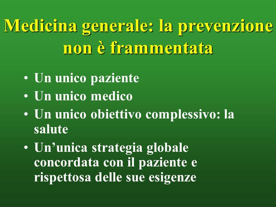 Medicina generale: la prevenzione non è frammentata