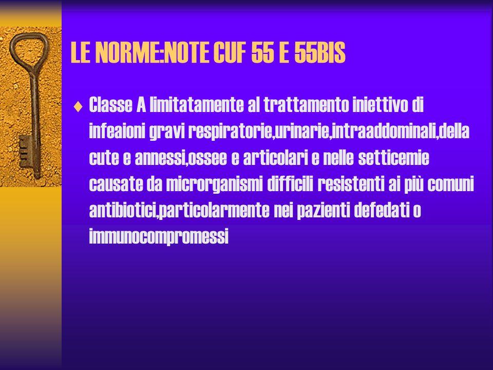 LE NORME:NOTE CUF 55 E 55BIS