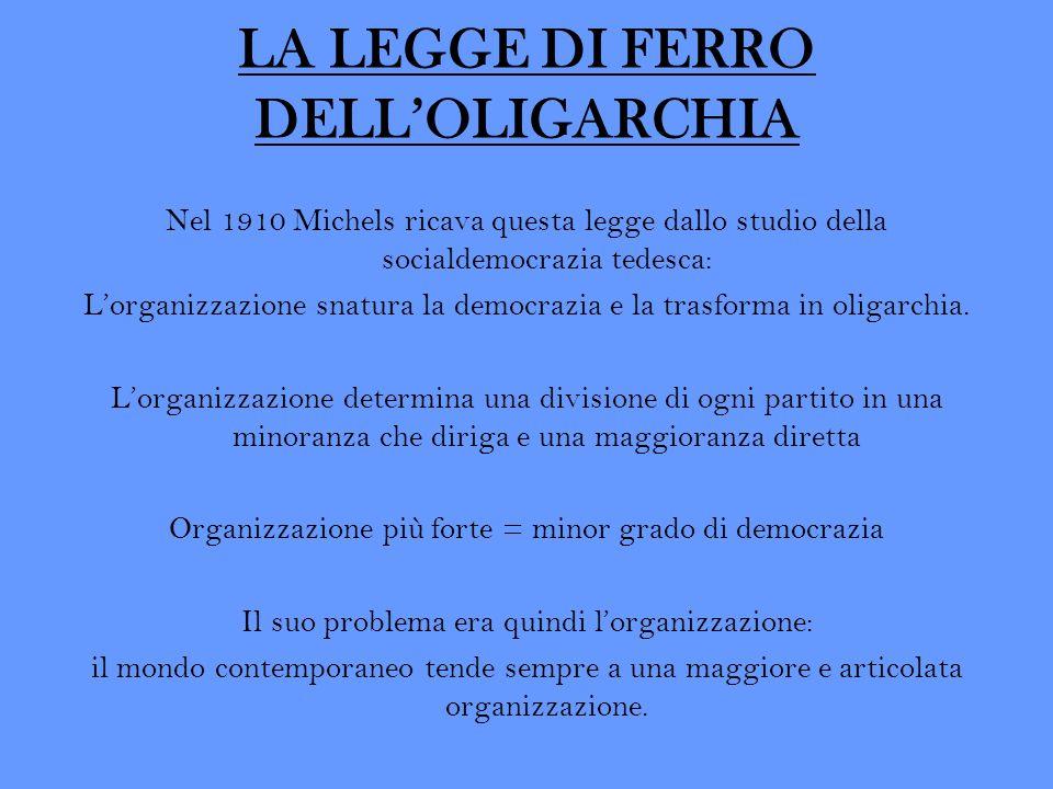 LA LEGGE DI FERRO DELL'OLIGARCHIA