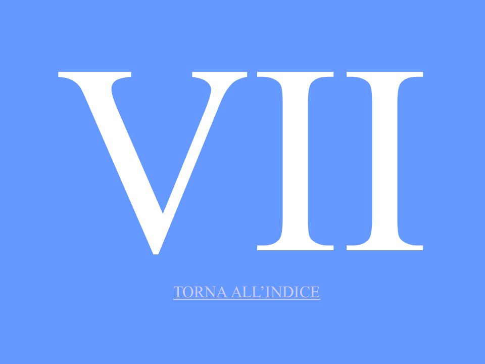 VII TORNA ALL'INDICE