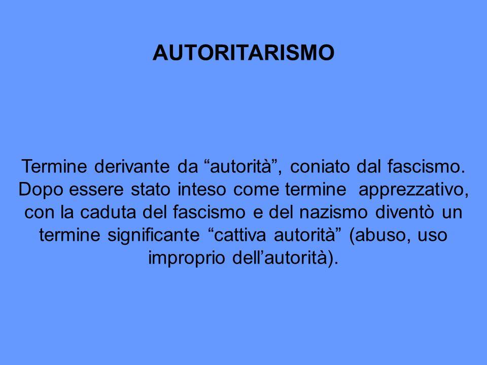 AUTORITARISMO