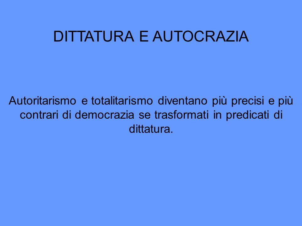 DITTATURA E AUTOCRAZIA