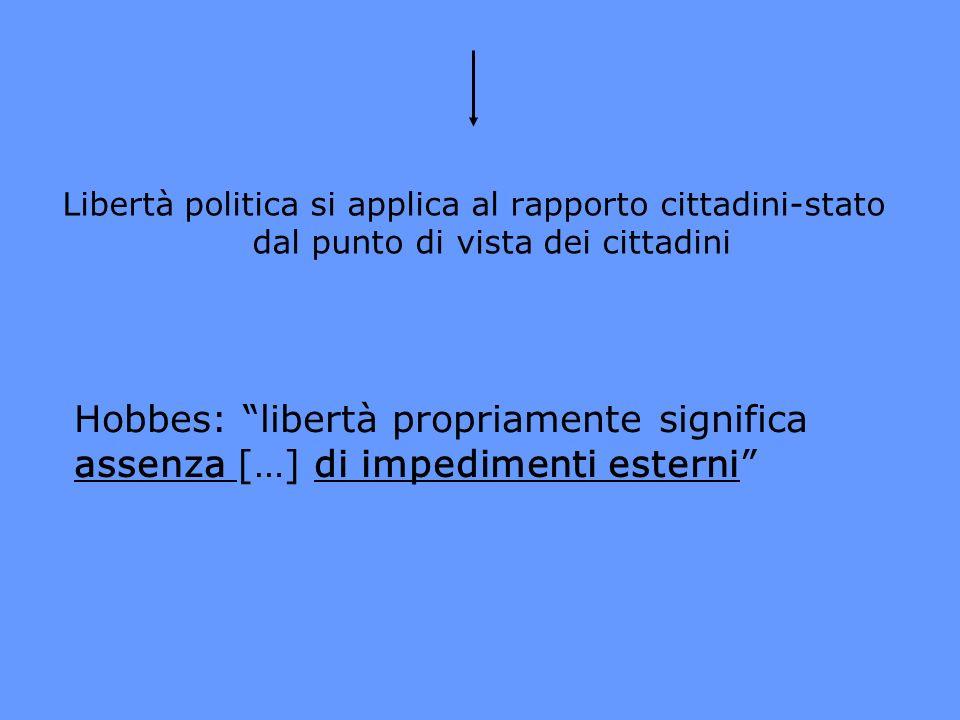 Libertà politica si applica al rapporto cittadini-stato dal punto di vista dei cittadini