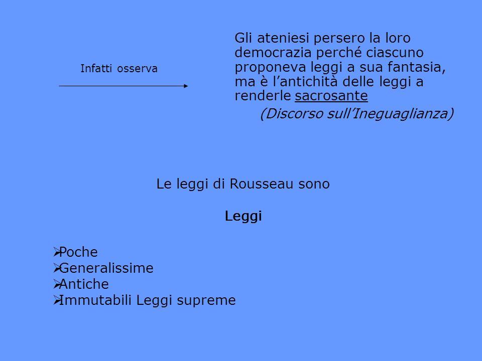 Le leggi di Rousseau sono