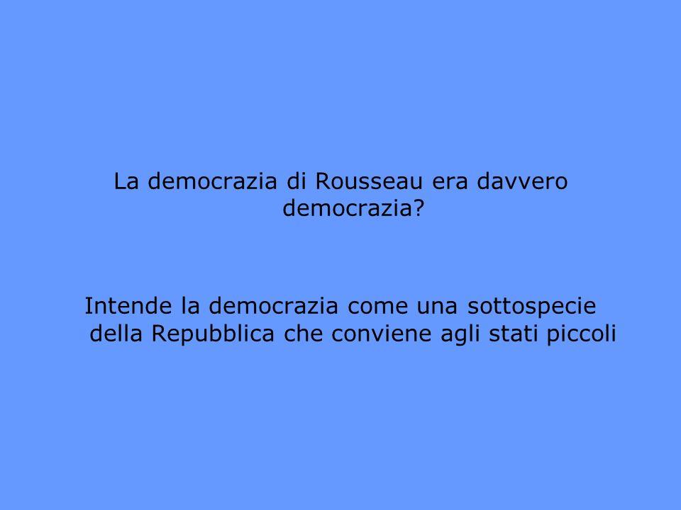 La democrazia di Rousseau era davvero democrazia