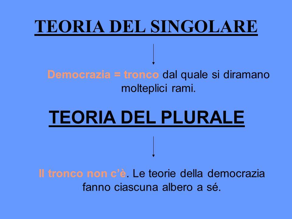 Democrazia = tronco dal quale si diramano molteplici rami.