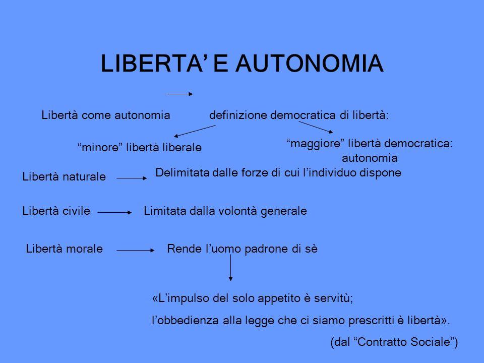 maggiore libertà democratica: autonomia