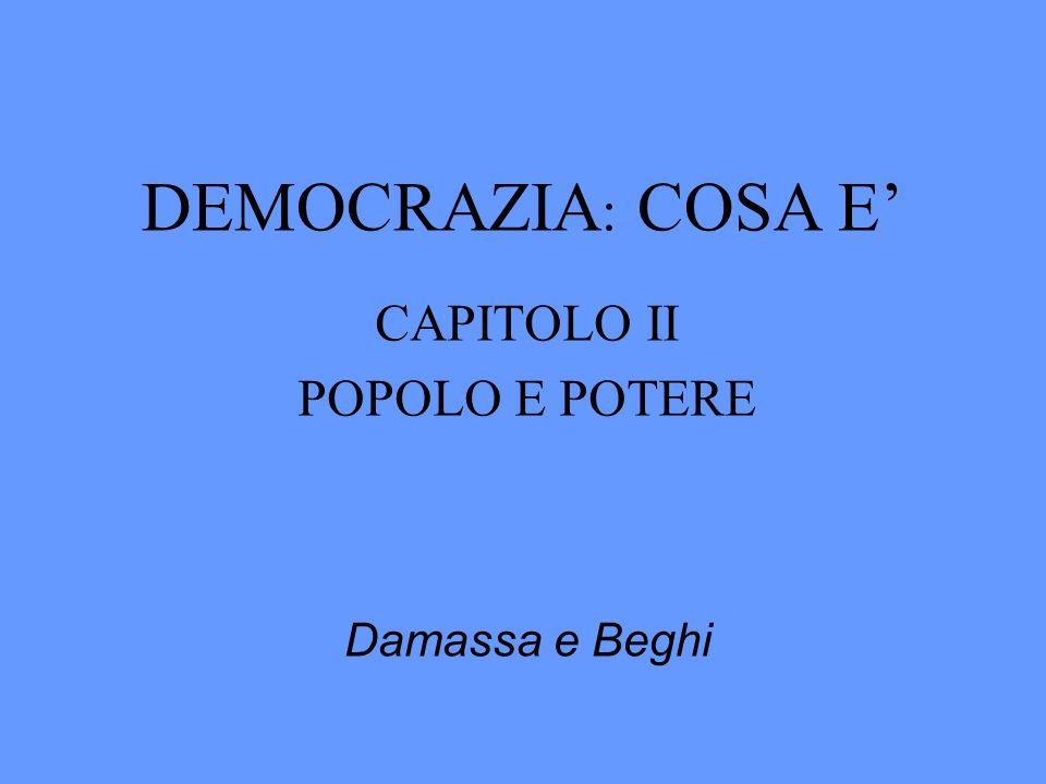 CAPITOLO II POPOLO E POTERE