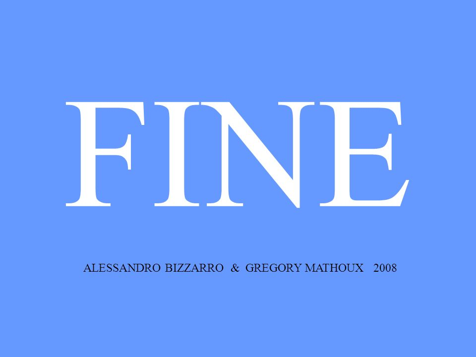 ALESSANDRO BIZZARRO & GREGORY MATHOUX 2008