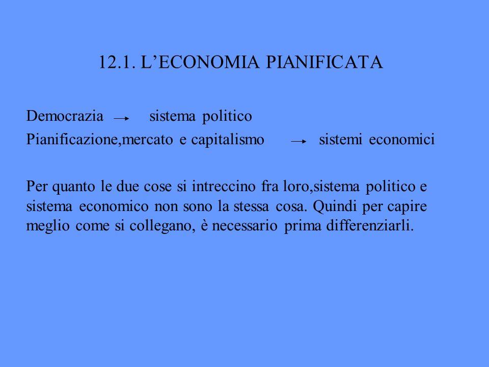 12.1. L'ECONOMIA PIANIFICATA