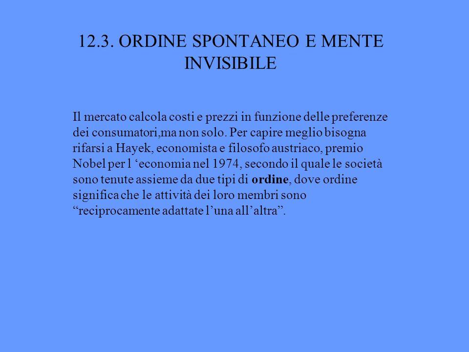 12.3. ORDINE SPONTANEO E MENTE INVISIBILE