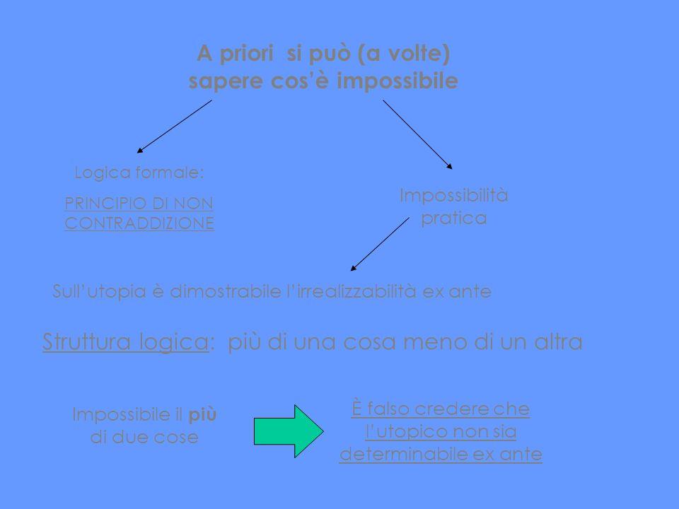 A priori si può (a volte) sapere cos'è impossibile