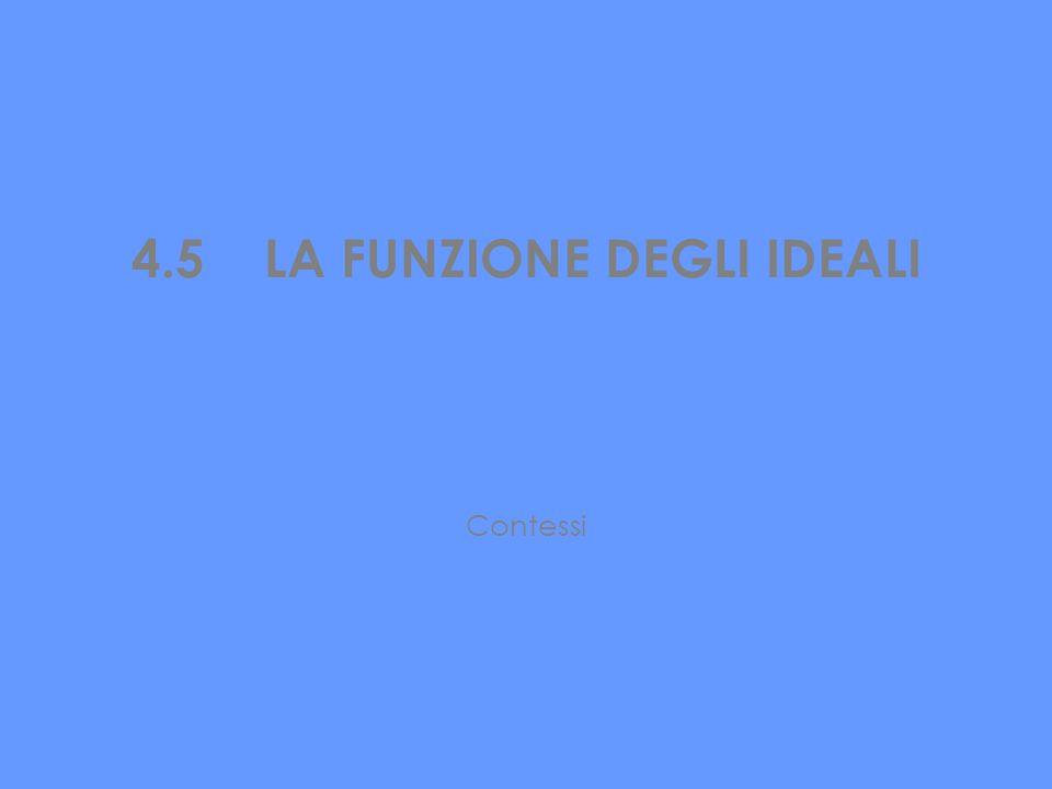 4.5 LA FUNZIONE DEGLI IDEALI