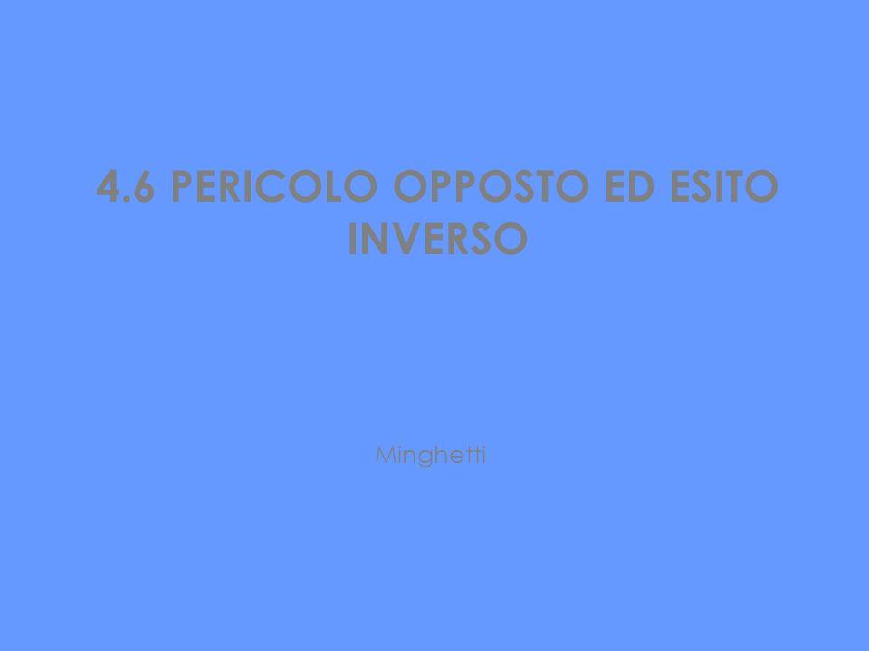 4.6 PERICOLO OPPOSTO ED ESITO INVERSO