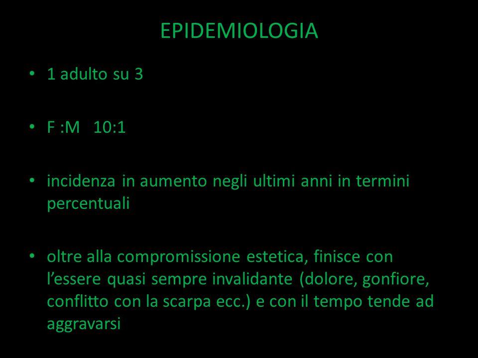 EPIDEMIOLOGIA 1 adulto su 3 F :M 10:1