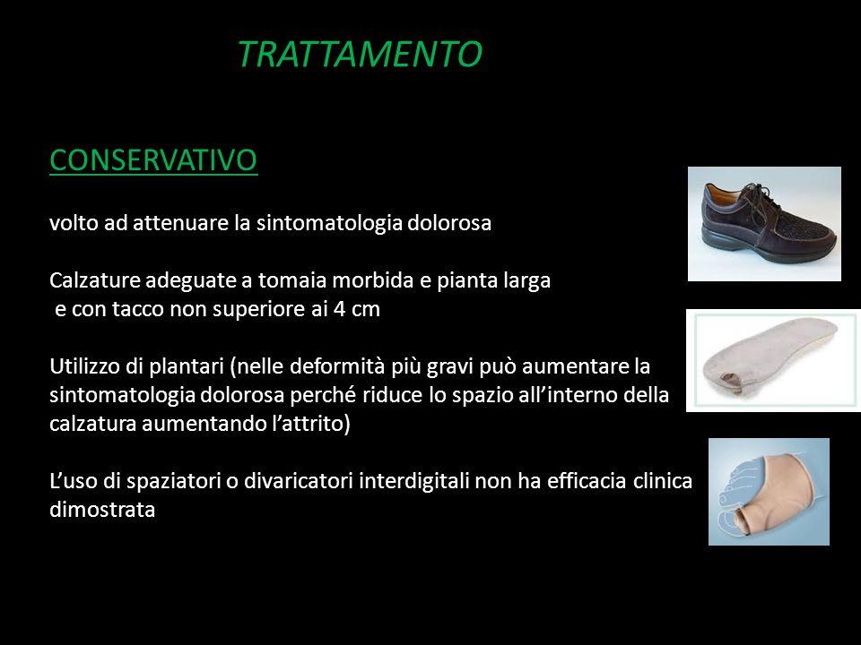 TRATTAMENTO CONSERVATIVO volto ad attenuare la sintomatologia dolorosa
