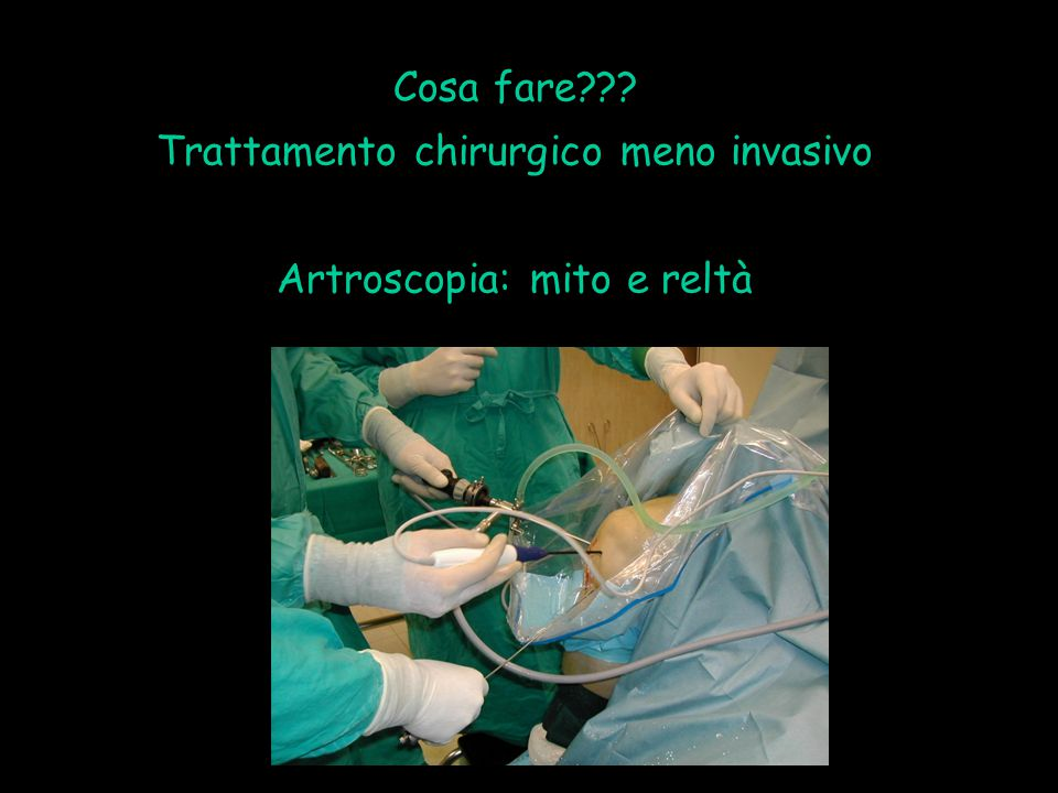 Trattamento chirurgico meno invasivo