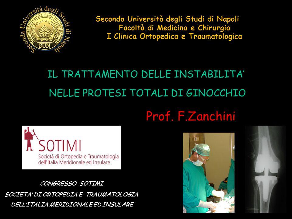 Prof. F.Zanchini IL TRATTAMENTO DELLE INSTABILITA'