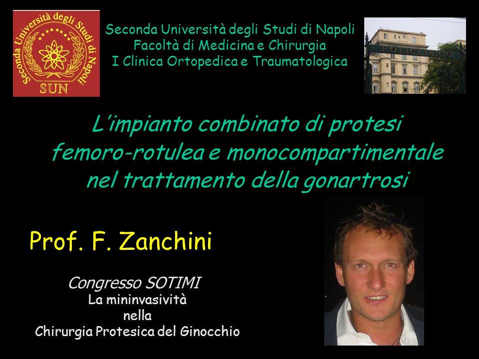 Prof. F. Zanchini L'impianto combinato di protesi
