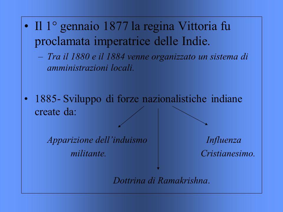 Il 1° gennaio 1877 la regina Vittoria fu proclamata imperatrice delle Indie.