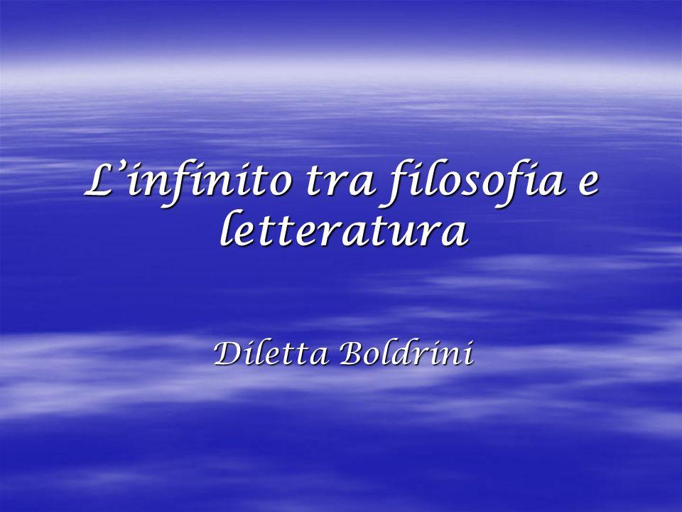 L'infinito tra filosofia e letteratura