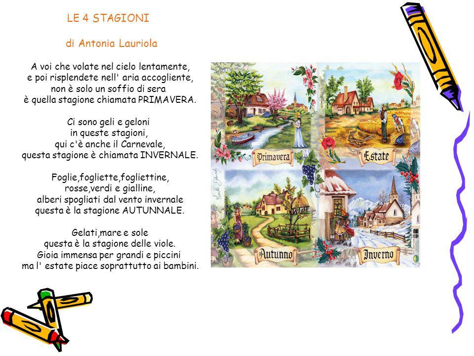 LE 4 STAGIONI di Antonia Lauriola