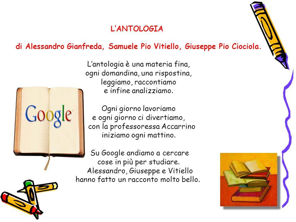 di Alessandro Gianfreda, Samuele Pio Vitiello, Giuseppe Pio Ciociola.