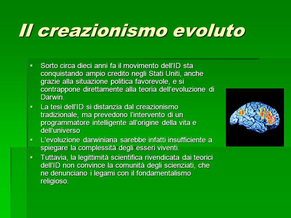 Il creazionismo evoluto
