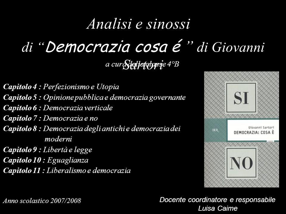 di Democrazia cosa é di Giovanni Sartori