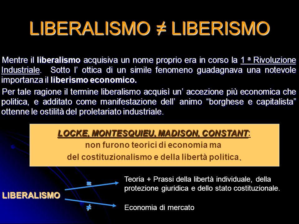 LIBERALISMO ≠ LIBERISMO