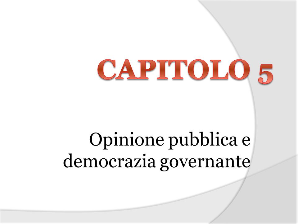 Opinione pubblica e democrazia governante