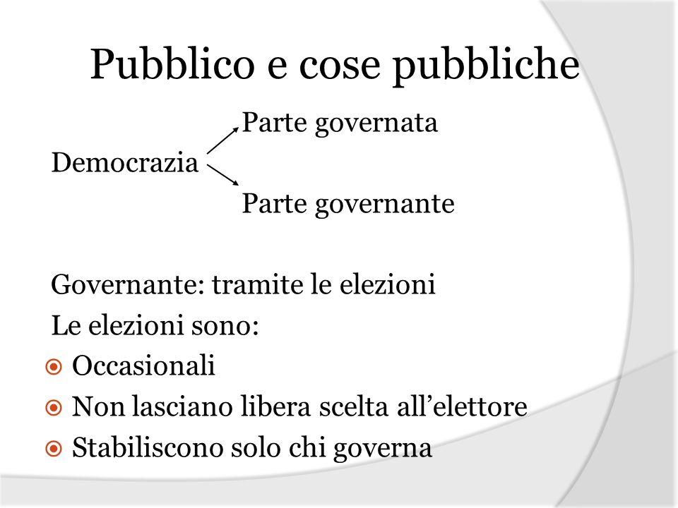Pubblico e cose pubbliche