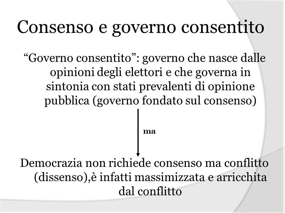 Consenso e governo consentito