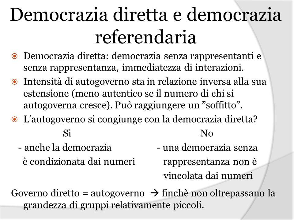 Democrazia diretta e democrazia referendaria
