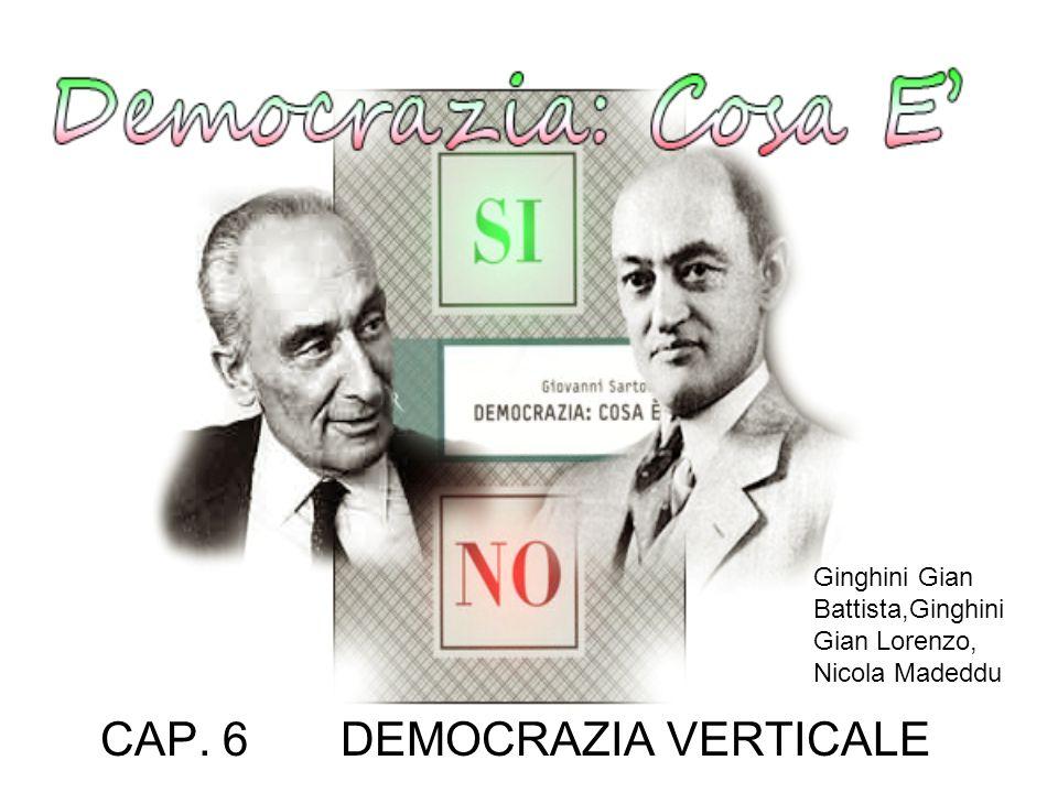 CAP. 6 DEMOCRAZIA VERTICALE