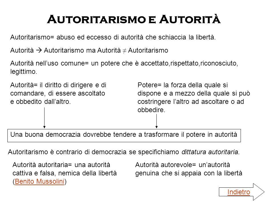 Autoritarismo e Autorità