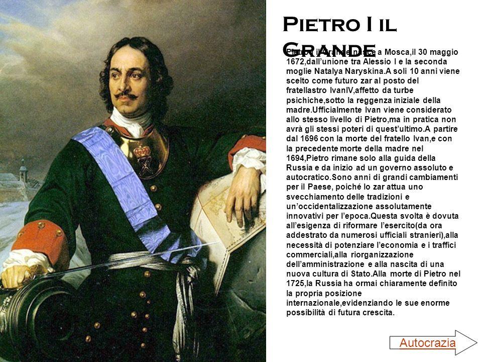 Pietro I il Grande Autocrazia