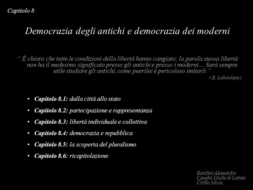 Democrazia degli antichi e democrazia dei moderni
